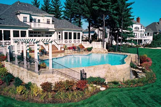 columbus ohio custom in ground swimming pool image gallery