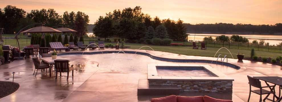 Columbus Ohio In Ground Swimming Pools Custom Inground Swimming Pool